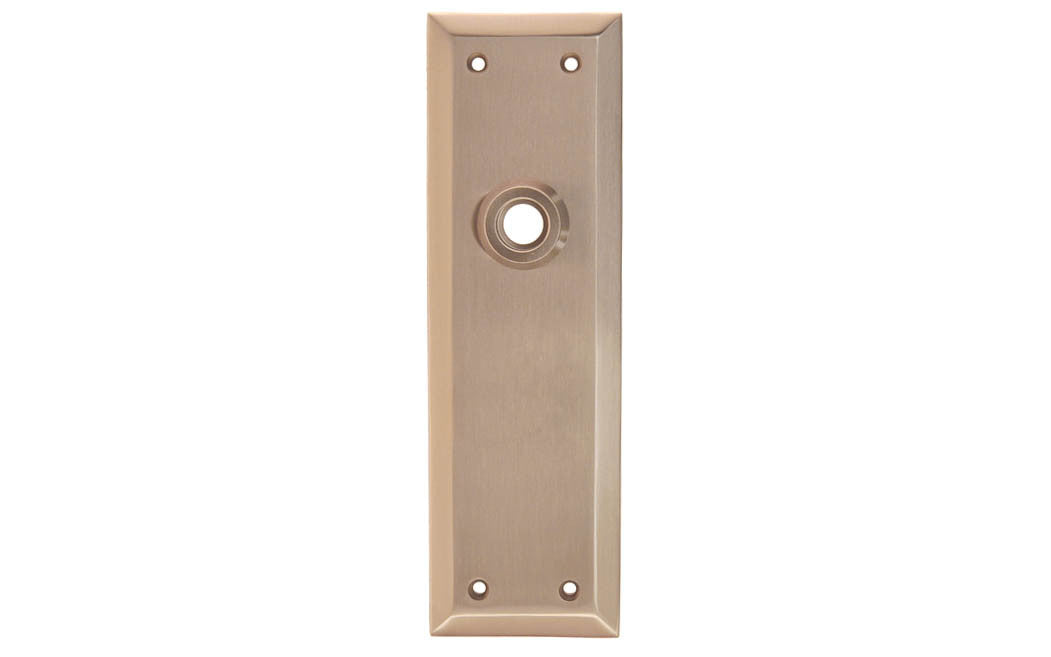 Solid Brass Escutcheon Door Plate ~ Brushed Nickel Finish