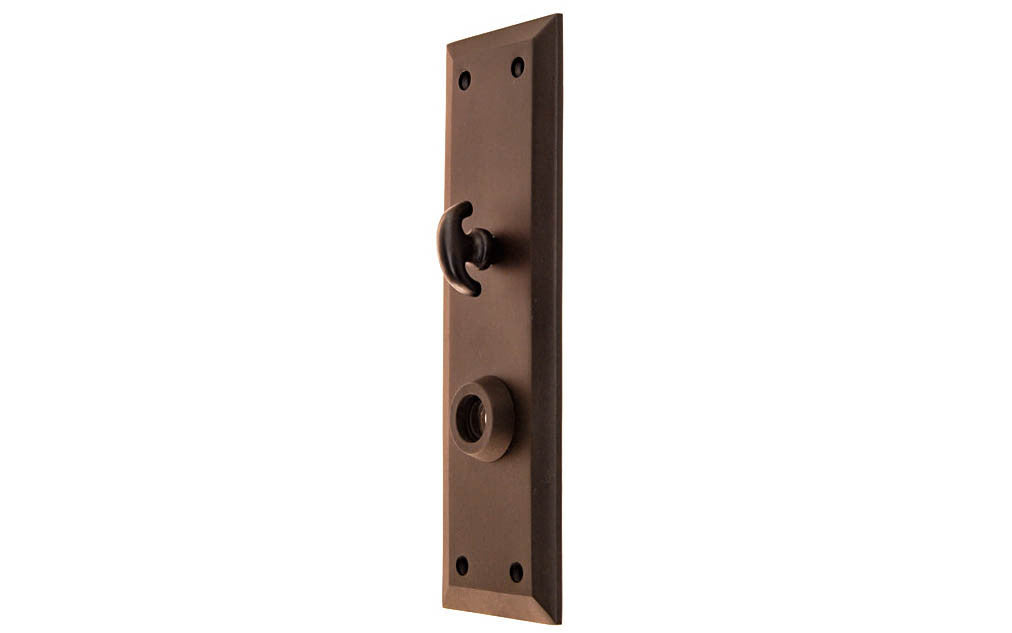 Solid Brass Escutcheon Door Plate with Thumb Turn ~ Oil Rubbed Bronze Finish