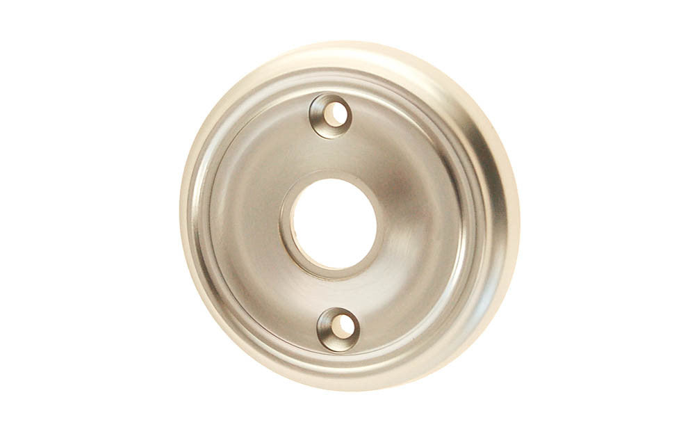 Classic Solid Brass Rosette ~ Passage (Non-Locking) ~ Brushed Nickel Finish