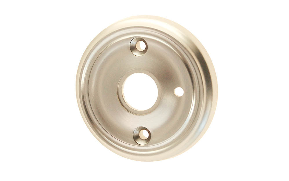 Classic Solid Brass Rosette ~ Privacy (Locking) ~ Brushed Nickel Finish