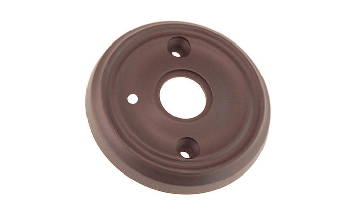 Classic Solid Brass Rosette ~ Privacy (Locking) ~ Oil Rubbed Bronze Finish