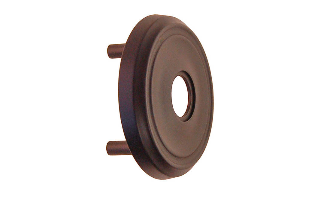Classic Solid Brass Rosette with Threaded Shanks ~ Passage (Non-Locking) ~ Oil Rubbed Bronze Finish