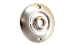 Solid Brass Large Rosette ~ Privacy (Locking) ~ Brushed Nickel Finish