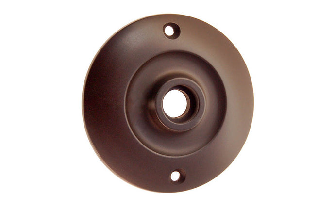 Solid Brass Large Rosette ~ Passage (Non-Locking) ~ Oil Rubbed Bronze Finish