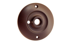 Solid Brass Large Rosette ~ Privacy (Locking) ~ Oil Rubbed Bronze Finish