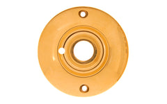 Solid Brass Large Rosette ~ Privacy (Locking) ~ Non-Lacquered Brass (will patina naturally over time)