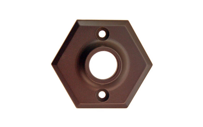 Solid Brass Hexagonal Rosette ~ Oil Rubbed Bronze Finish