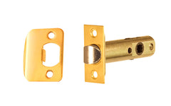 "Classic Spring Latch for Doors ~ 2-3/8"" Backset ~ Lacquered Brass Finish"