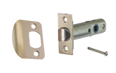 "Classic Spring Latch for Doors with Privacy Pin (Locking) ~ 2-3/8"" Backset ~ Brushed Nickel Finish"
