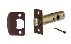 "Classic Spring Latch for Doors with Privacy Pin (Locking) ~ 2-3/8"" Backset ~ Oil Rubbed Bronze Finish"
