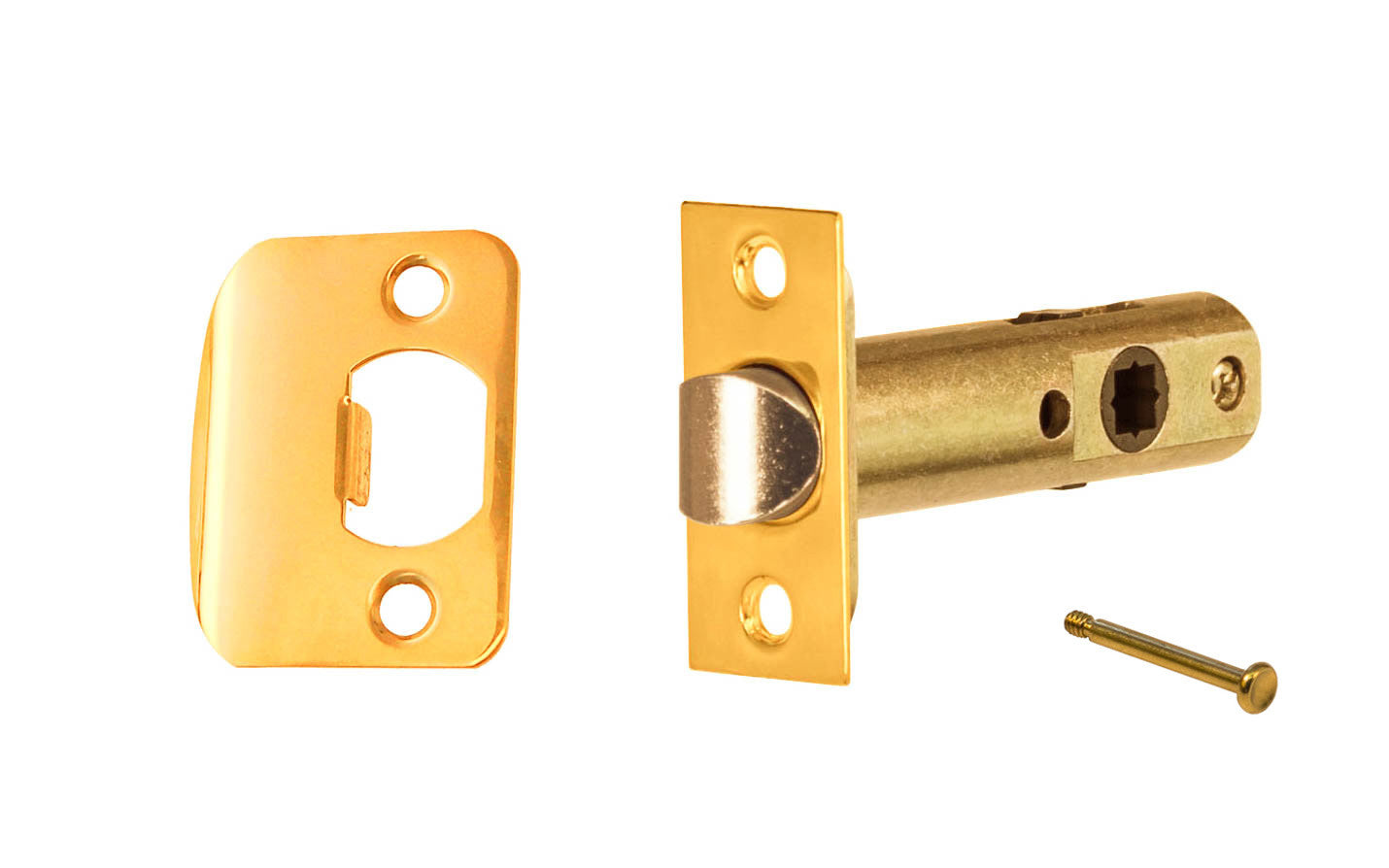 Classic Spring Latch for Doors with Privacy Pin (Locking) ~ 2-3/8