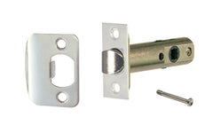 "Classic Spring Latch for Doors with Privacy Pin (Locking) ~ 2-3/8"" Backset ~ Polished Nickel Finish"