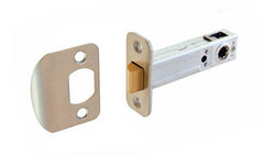 "Spring Latch for Doors ~ 3/4"" Backset ~ Brushed Nickel Finish"