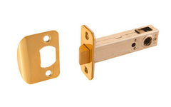 "Spring Latch for Doors ~ 3/4"" Backset ~ Lacquered Brass Finish"