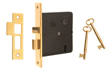 "Classic Interior Mortise Lock Set ~ 2-1/2"" Backset ~ Non-Lacquered Brass (will patina naturally over time)"