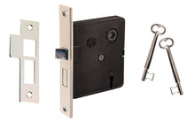 "Classic Interior Mortise Lock Set ~ 2-1/2"" Backset ~ Polished Nickel Finish on Solid Brass Material"