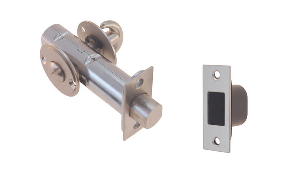 Thumb Turn Deadbolt for Doors With Emergency Slot ~ Brushed Nickel Finish