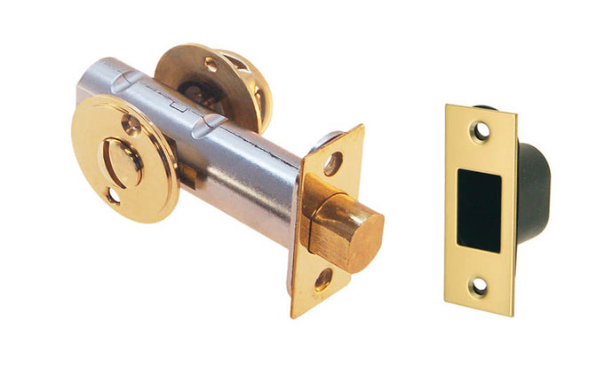 Thumb Turn Deadbolt for Doors With Emergency Slot ~ Lacquered Brass Finish