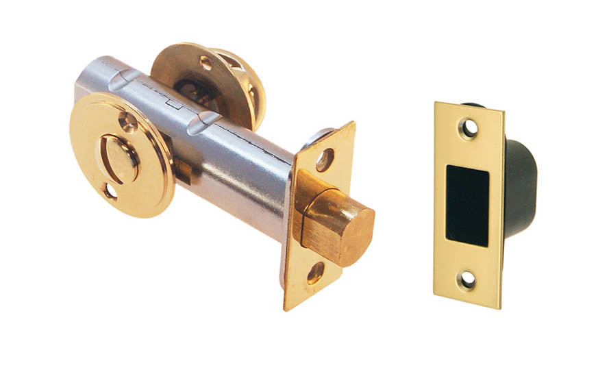 Thumb Turn Deadbolt for Doors With Emergency Slot ~ Non-Lacquered Brass (Will Patina Over Time)