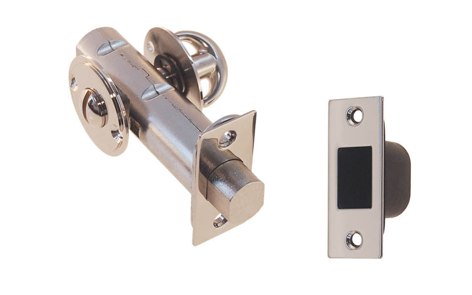Thumb Turn Deadbolt for Doors With Emergency Slot ~ Polished Nickel Finish