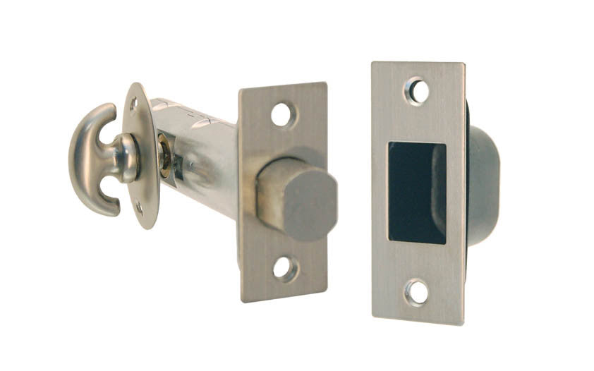 Thumb Turn Deadbolt for Doors ~ Brushed Nickel Finish