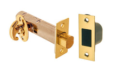 Thumb Turn Deadbolt for Doors ~ Lacquered Brass Finish
