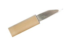 Yokote Japanese Laminated Steel Knife Backview ~ 90 mm