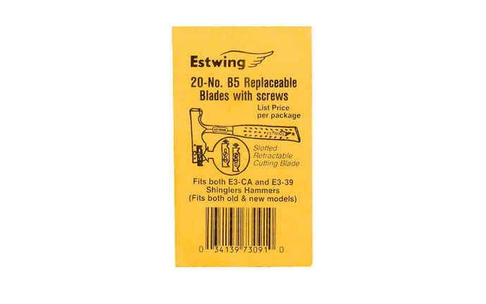 Estwing Replacement Blades for E3-CA & E3-39 ~ Made in the USA