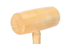 C.S. Osborne Hickory Mallet ~ Barrel Shaped Head ~ Closeup