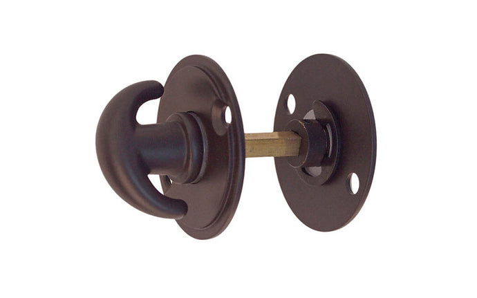 Solid Brass Thumb Turn for Doors With Emergency Slot ~ Oil Rubbed Bronze Finish