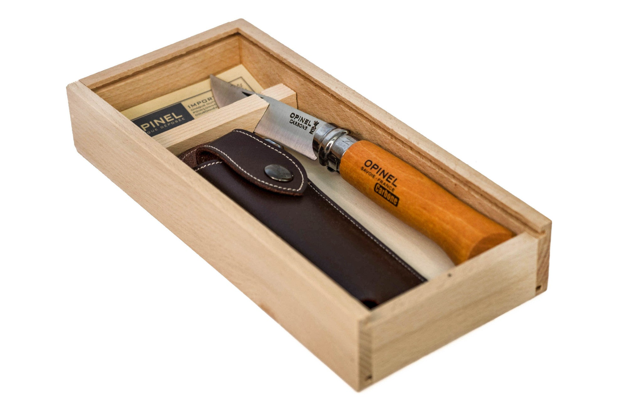 Opinel Classic Carbon Steel Knife Gift Box Set ~ Made in France