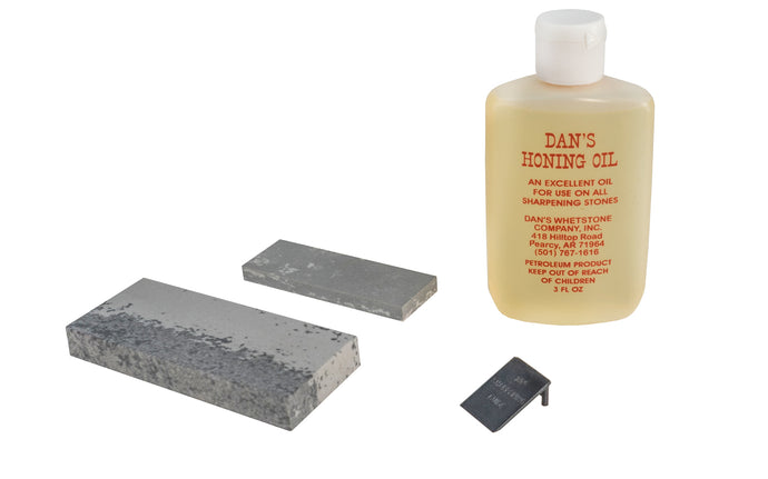 Hard & Soft Arkansas Stone Sharpening Kit with Oil - Box Kit - Made in USA - Model No. HK