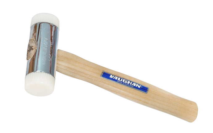Vaughan Nylon Face Hammer - Made in England ~ Nylon faces thread into hammer head ~ Hardwood Handle ~ Replaceable faces - Replaceable heads - Absorb the force of side blows - NT100 - NT150 - NT200 - Nylon faces thread into hammer head