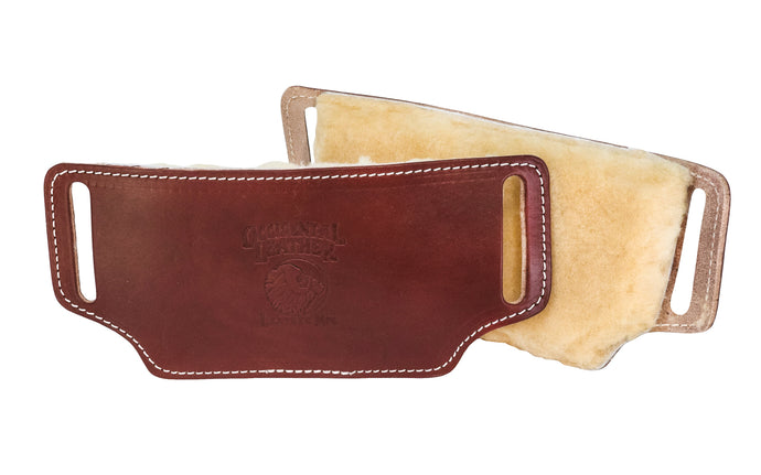 Occidental Leather's Hip Pads with Sheepskin are thick-pile, sheepskin lined leather hip pads that slide on the belt under tool bags. Sheepskin pads provide maximum comfort & is a natural insulator, warm & comfortable in winter, & cool in summer. Comfortable when using with tool belts. Made in USA - Model 5006 - 759244004908