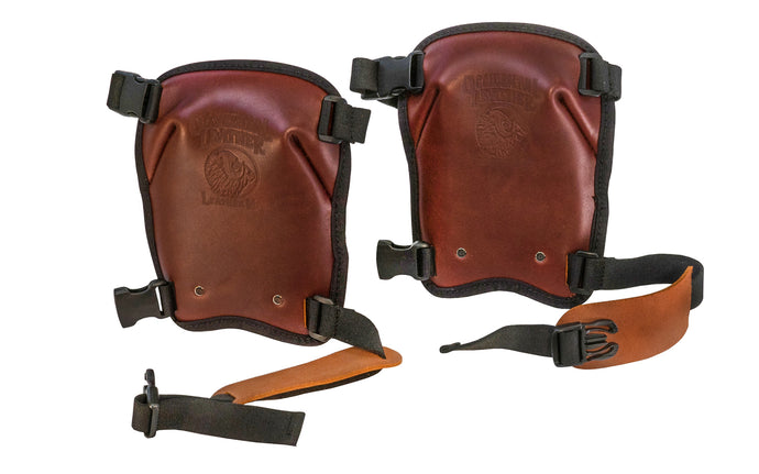 Occidental Leather's comfortable knee pads are made of top-grain leather for professionals. Won't scuff floors & are great for interior & remodeling work. Hand crafted with a thick layer of high density padding & an inner plastic shield to eliminate pressure points. Quick release fasteners. Made in USA - Model 5022
