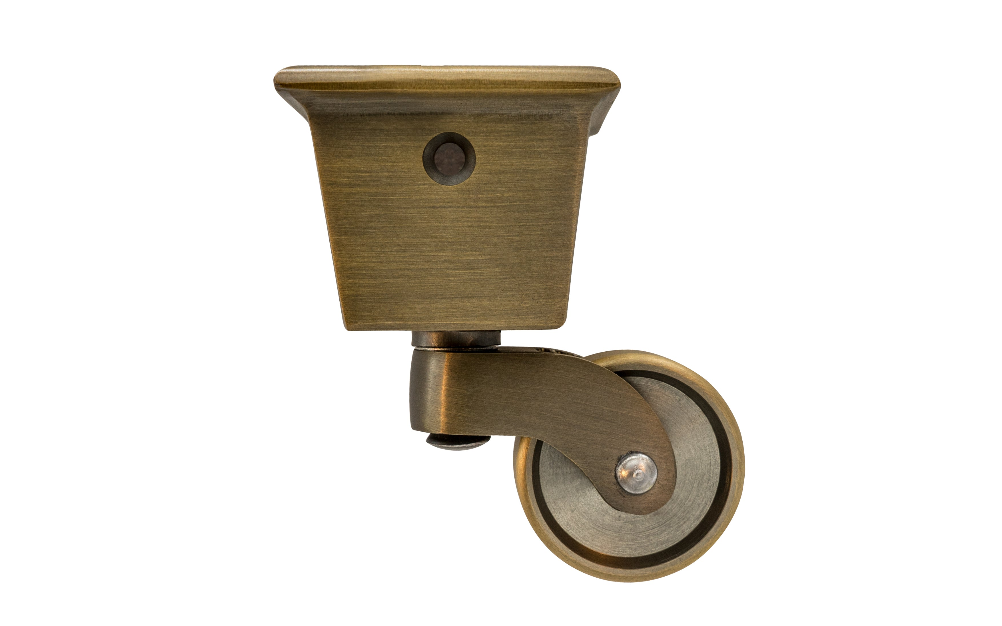 Solid Brass Square Socket Caster ~ 1-1/4