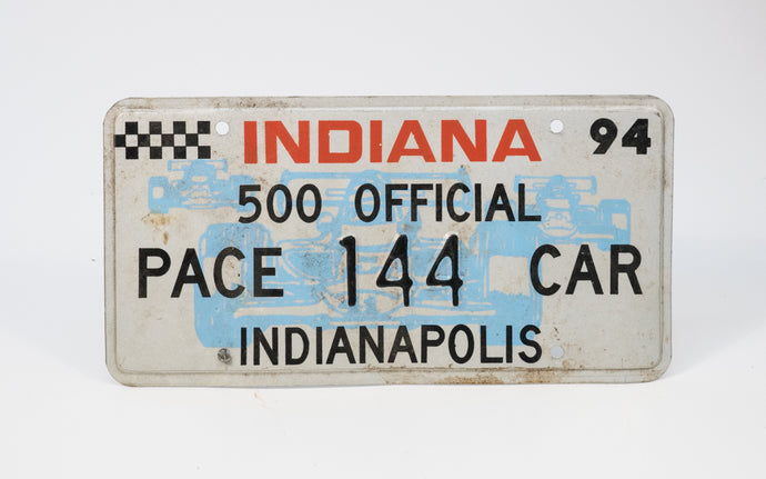 Indy Racing Fan License Plate