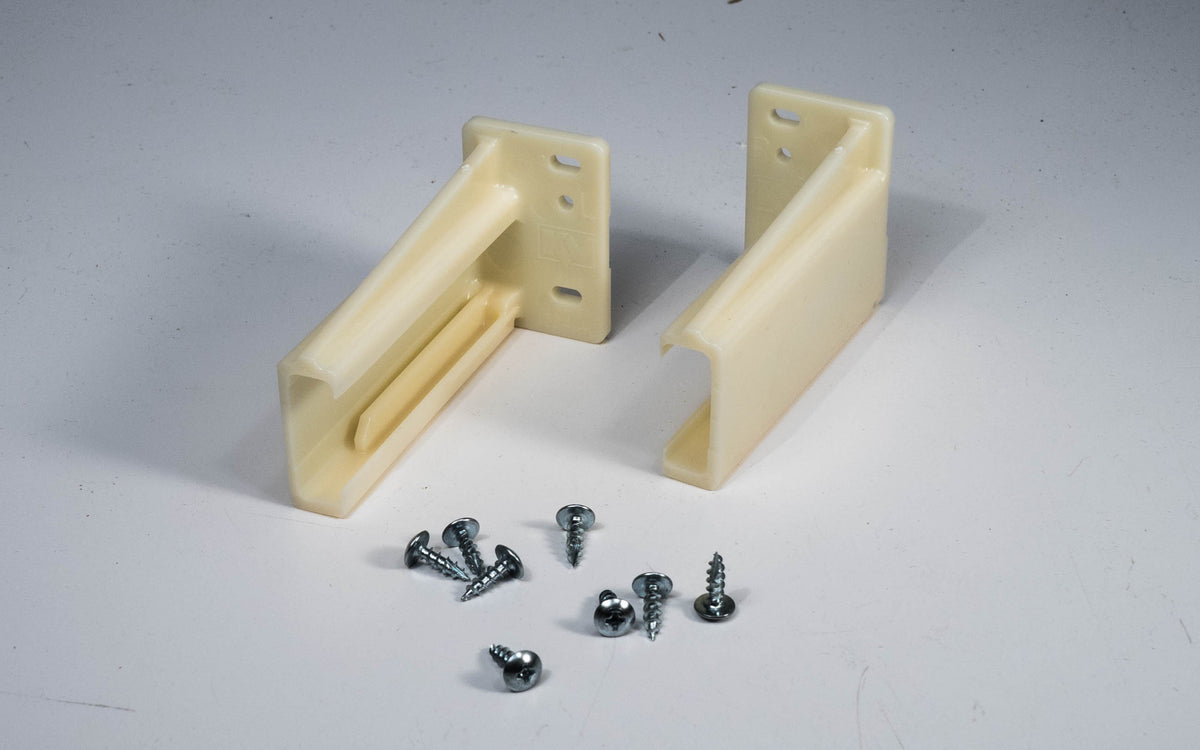 Knape & Vogt 1284-4WP Drawer Slide Mount Socket, Plastic