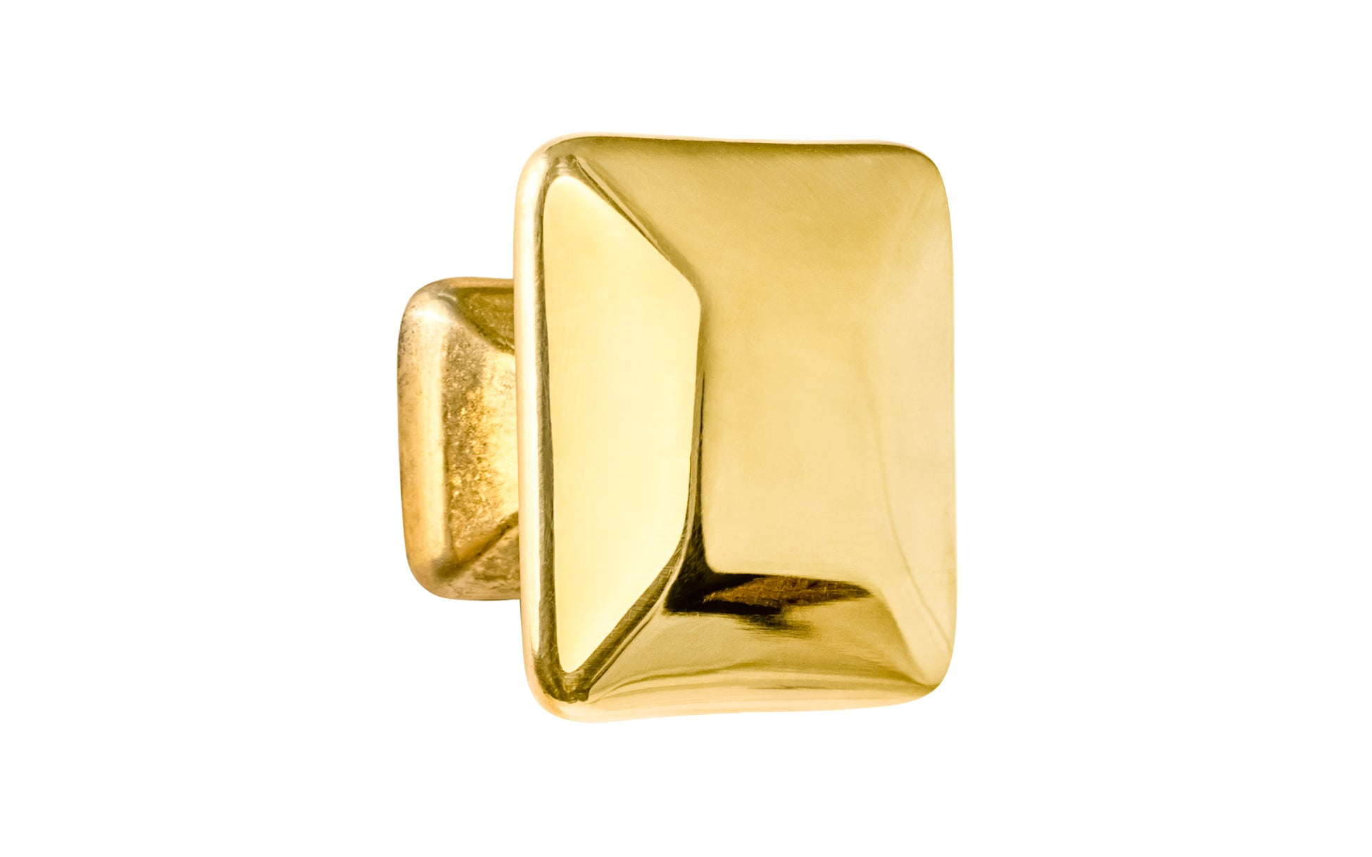 Solid Brass Square Knob ~ 1-1/4