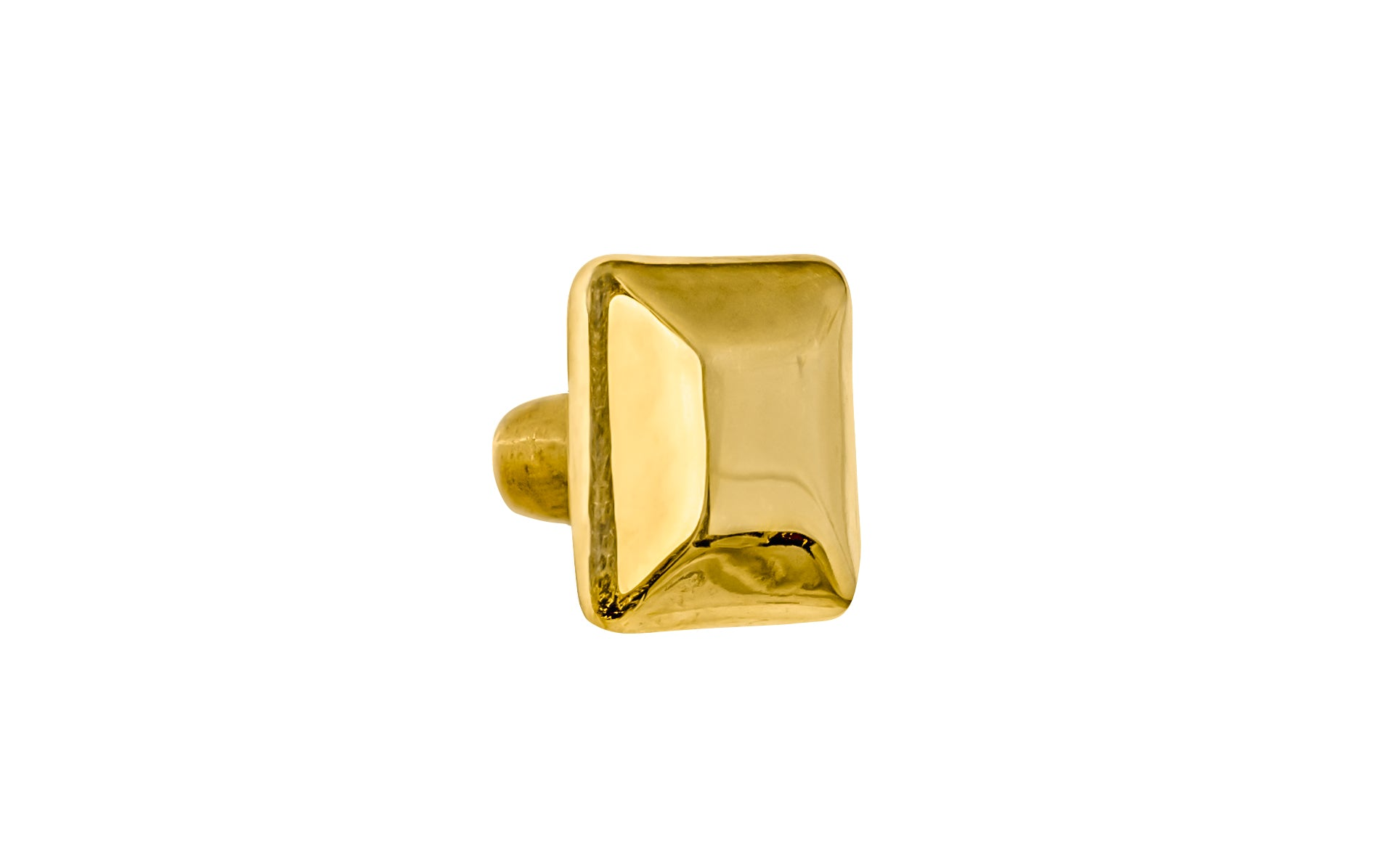 Solid Brass Square Knob ~ 3/4