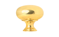 "Classic Brass Knob ~ 1-1/2"" Diameter ~ Non-Lacquered Brass (will patina naturally over time)"