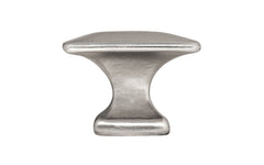 "Solid Brass Square Knob ~ 1-1/4"" Size ~ Brushed Nickel Finish"