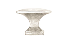 "Solid Brass Square Knob ~ 1-1/4"" Size ~ Polished Nickel Finish"