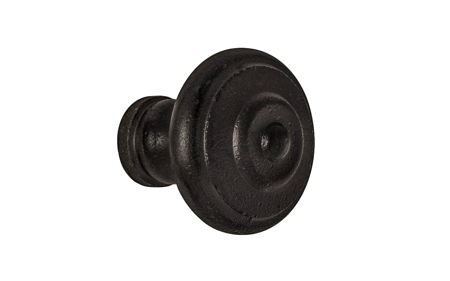 Satin Black Cast Iron Knob