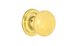 "Solid Brass Core Knob ~ 1"" Diameter"