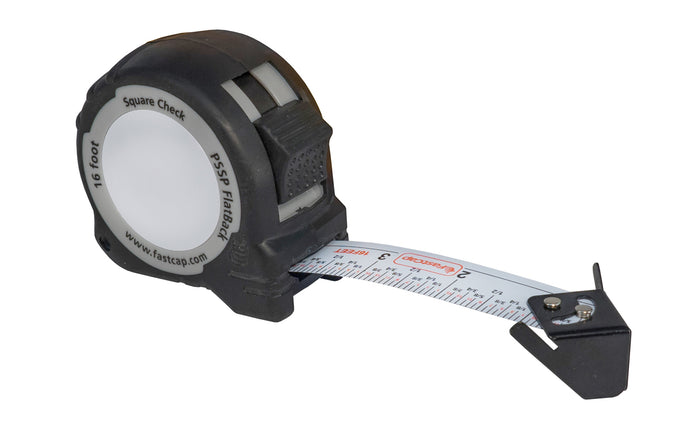 FastCap FlatBack Tape Measure ~ 16' - Square Check - Standard ~ 16' - Model No. PSSP-FLAT 16 SQC