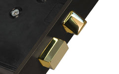 Classic Interior Mortise Lock Set ~ Oil Rubbed Bronze Finish on Solid Brass Material ~ Closeup View