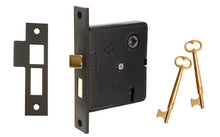 "Classic Interior Mortise Lock Set ~ 2-1/2"" Backset ~ Oil Rubbed Bronze Finish on Solid Brass Material"
