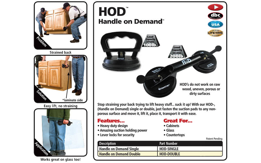 FastCap Handle on Demand ~ Single Suction Cup