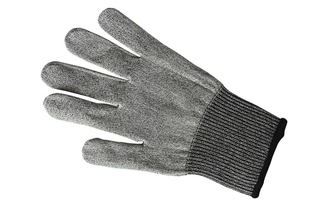 Microplane Cut Resistant glove - Model 34007 - Protects fingers & knuckles from grater blades - Medium and Large Size Glove - Fits both Right & Left hands - Easy to clean: Machine washable, drip dry - MED Size - LG Size - Protects hand from sharp Microplane tools - FDA compliant - Cut proof glove - Safety glove